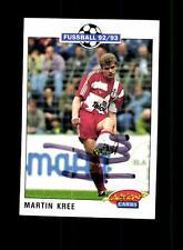 Martin Kree Bayer Leverkusen Panini Card 1992-93 Original Signiert+ A 158106