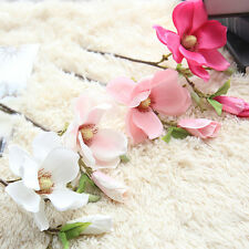 1pcs Artificial Magnolia Flower Fake Silk Floral Wedding Party Home Graden Decor