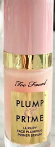 100% Authentic Too Faced Plump And Prime Face Plumping Serum 1 oz  New In Box