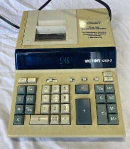Vintage VICTOR DESKTOP BUSINESS CALCULATOR/PRINTING MACHINE 1260-2