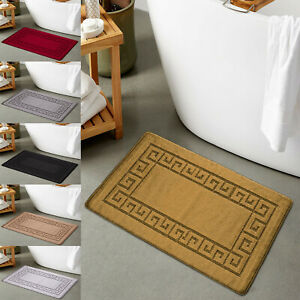 Non Slip Bath Mat Small Large Bathroom Rug Water Absorbent Washable Toilet Mat
