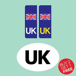 UK Car Rear & Number Plate Sticker Twin Pack - EU, Union Jack, Car, Van, Vinyl