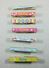 Magnetic Days of the Week Clothespins Office Organization