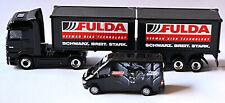 Mercedes Actros Co-SZ + Sprinter FULDA schwarz breit stark 1:87 Schuco 26911