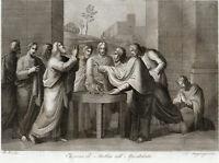 Acquaforte Antica  Elezione di Matteo all' Apostolato Incisione Autentica 1832