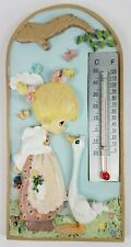 Giftco Precious Moments girl with goose decorative thermometer