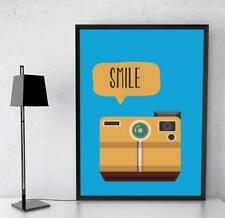 Happy Retro Style Art Smile For The Camera Print Poster  A4/A3