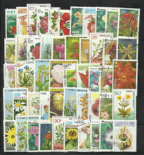 FLOWERS Collection Packet of 200 Different STAMPS mainly USED