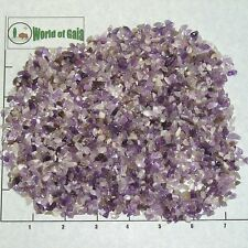AMETHYST, BANDED 4-10mm tumbled, 1/2 lb bulk xmini stones quartz purple white
