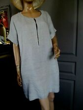 "état neuf "" SANDRO "" superbe robe en lin. printemps/été. T.3 = 44/46. (mesures."