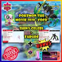 3 Pack ZARUDE + Shiny CELEBI + Shiny Raid   Event: Coco   Pokemon Sword & Shield