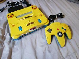 Nintendo 64 (N64) & Controller Custom Pokemon Pikachu Theme Yellow & Blue