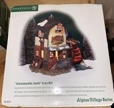 New listing Dept 56 Alpine Village Series Getreidemuhle Zwettl Grain Mill Euc 56.56221