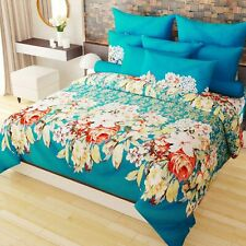 Tropicana 152 TC 3-D Double Bedsheet with 2 Pillow Covers - Floral, Multicolour
