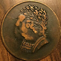 1820 LOWER CANADA BUST AND HARP HALFPENNY TOKEN COIN