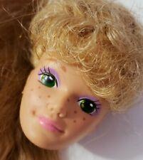 BARBIE DOLL HEAD ONLY FOR OOAK OR CUSTOM ALL-STAR MIDGE 1989 CRIMPED HAIR BANGS