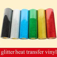 6 Colors PU Garment Tshirt Sparkle Glitter Vinyl Heat Press Vinyl Transfer Paper