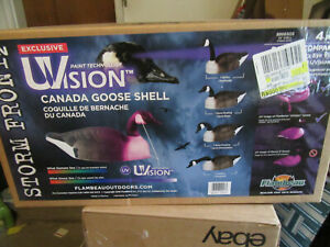 """Flambeau 8866SGS Storm Front 2 Canada Goose 24"""" Hunting Shell Decoy 4Pk New"""