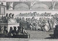 Marat en Procès 1793 Convention Nationale Rare Gravure Révolution Française