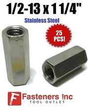 Qty 25 12 13 X W58 X L1 14 Stainless Steel Threaded Rod Coupling Nuts