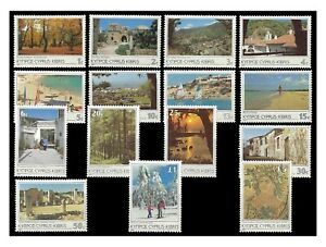Cyprus 1985 Scenes & Landscapes Set of 15 Stamps SG648/62 (Sc.640/54) MUH 9-9