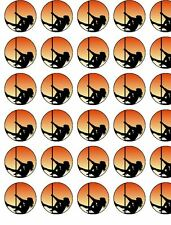 24 X POLE DANCING RICE/ WAFER PAPER BIRTHDAY CAKE TOPPERS