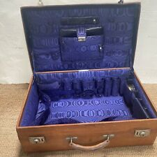 Antique Heavy leather suitcase Drew & Sons Piccadilly London Accessories Satin