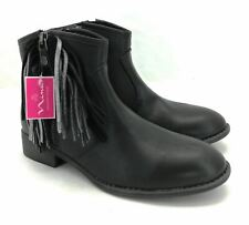 Mia Womens Black Memory Foam Ankle Boots Size 5