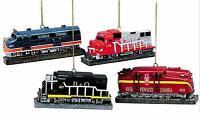 Resin Locomotive Ornament, 4Set SANTA FE~PENNSYLVANIA~B&O~Illinois XMAS Trains