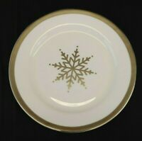 "NEVAEH WHITE by Fitz & Floyd, Grand Rim Platinum Snowflake Salad Plate 9 3/4""New"