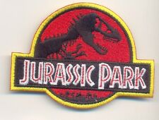 "jurassic park iron on embroidered patch 3"" dinosaurs world prehistoricspielberg"