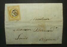 10c bistre/ (citron?)  Napoléon   N° 13 obl  cachet OR sur petite lettre