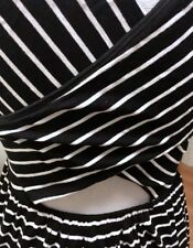 LOFT black and white striped dress sleeveless S small keyhole in back stripes