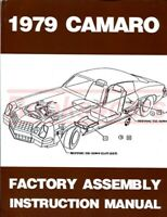 CAMARO 1979 CHEVROLET ASSEMBLY MANUAL RESTORATION SHOP GUIDE BOOK