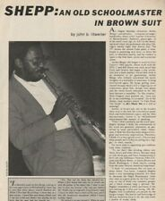 1974 Archie Shepp - Jazz Saxophonist - 4-Page Vintage Article
