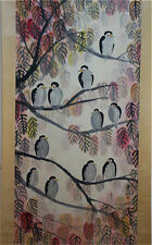 """RARE Chinese 100% Hand Painting & Scroll """"Birds & Tree"""" By Lin Fengmian 林风眠 WED9"""