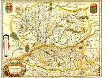 TIRAGE 20è  d' APRES CARTE BLAEU DU 17è siècle DUCATUS ANDEGAVENSIS ANIOU ANJOU