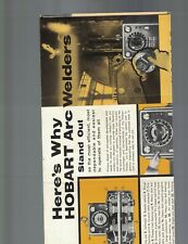 Hobart Arc Welders Brochure 1950s Troy Ohio 16 1/2 x 22