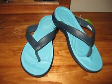NWT New Crocs Capri Navy Blue Pool Flip Flops Sandals sz. 8