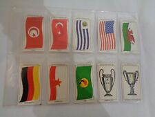Vintage Sun Soccercards Flags of Soccer Nations Trophies 981 to 990 - set of 10