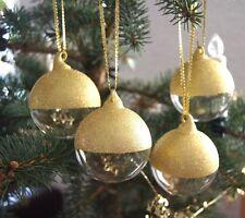 IKEA SNÖMYS GOLD 4Stück SET Christbaumkugeln Weihnachtsbaumschmuck DEKO *NEU*