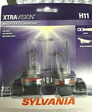 SYLVANIA H11 XtraVision Halogen Bulb, Pack of 2, NEW, SEALED, L@@K!! Xtra Vision
