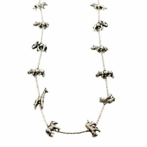 Southwestern Sterling Silver Animal Fetish Necklace