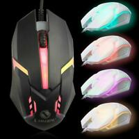 Professional Wired Mouse Computer Gaming Optical LED Mouse Wired B5B0 H3O4 P2N4