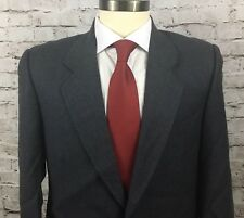 Mens CODICE 2 Button Gray Italian Wool Sport Coat Blazer Jacket Size 40 Chest