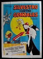 Werbeplakat Silvester Gegen Gonzales Animation Looney Tunes Merrie Melodies M303