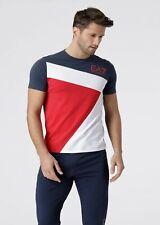 T-shirt Uomo Emporio Armani EA7 3GPT68 PJ03Z Maglia Cotone Bianca Blu Rossa
