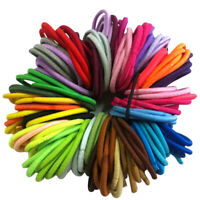 50 x Quality COLOURFUL HAIR BANDS Elastics Bobbles Girls School Ponies Ties Tool