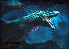 Aceo Atc Sketch Card - Dragon