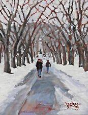 Crossing Fletcher's Field, Montreal, 8x10, Oil, Darlene Young Canadian Artist